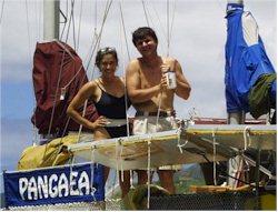 Erika und Achim auf Pangaea